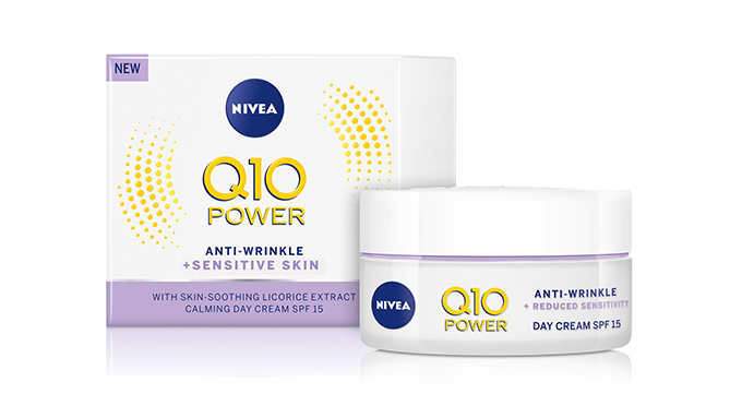 KCM kauneus lanseerausalue NIVEA-Q10-POWER-Sensitive-Day-Cream