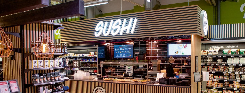 Sushikulhoja, artesaanipizzaa, wokkeja… Ruokakaupasta tuli aito vaihtoehto ravintolalle