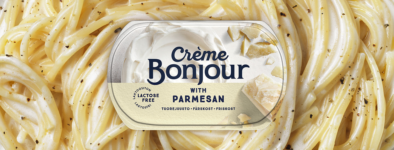 Crème Bonjour with Parmesan