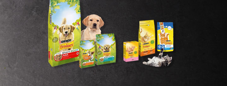 Friskies kissan- ja koiranruoat tarjouksessa Plussa-kortilla