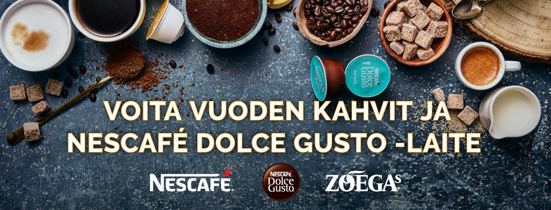 Voita vuoden kahvit ja Nescafé Dolce Gusto -kapselilaite