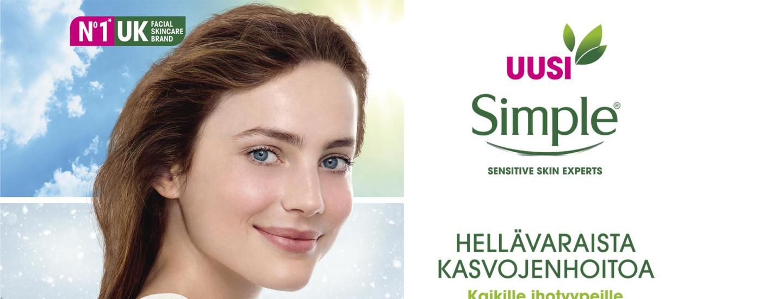 Simple - hellävaraista kasvojenhoitoa