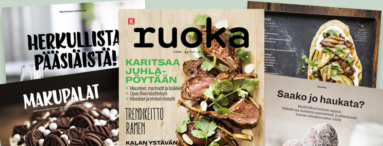 K-Ruoka 2/2016 -lehden reseptit
