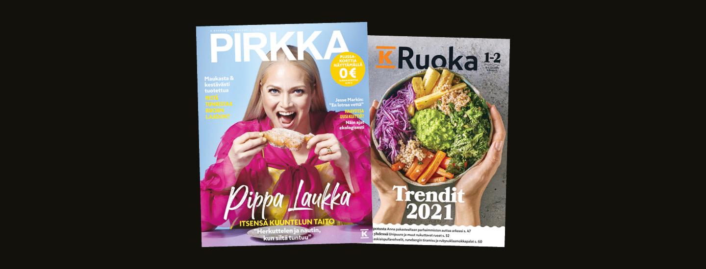Pirkka-lehti saatavilla ilmaiseksi K-kaupoista