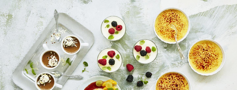Pannacotta vai crème brûlée?