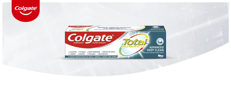 Uusi Colgate Advanced Total Deep Clean -hammastahna - plakkia vastaan