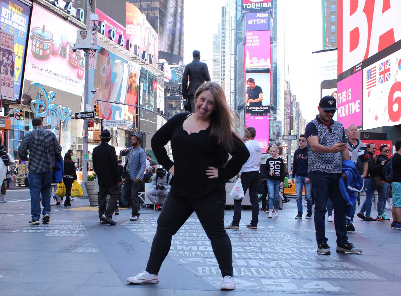 Pam in Times Square