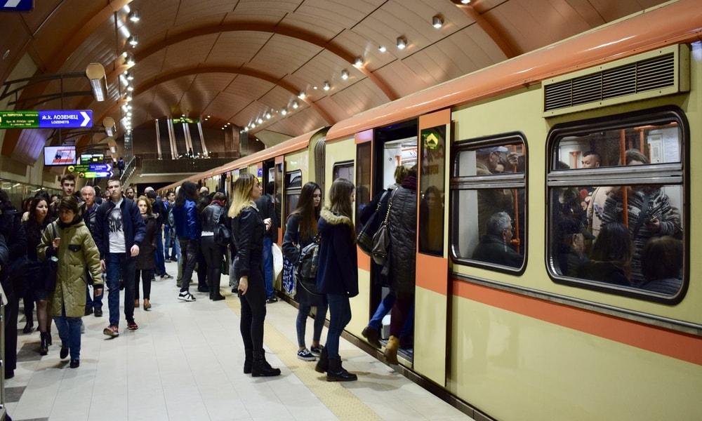 Taking a metro in Sofia