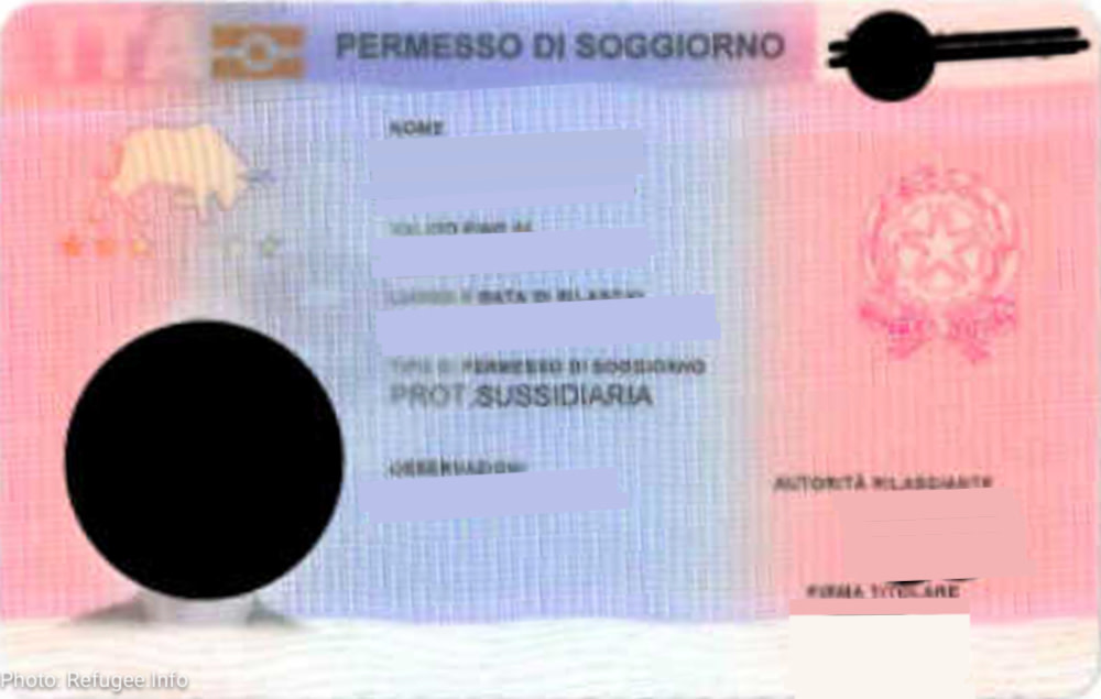 Permessi di soggiorno (permits of stay): For subsidiary protection ...