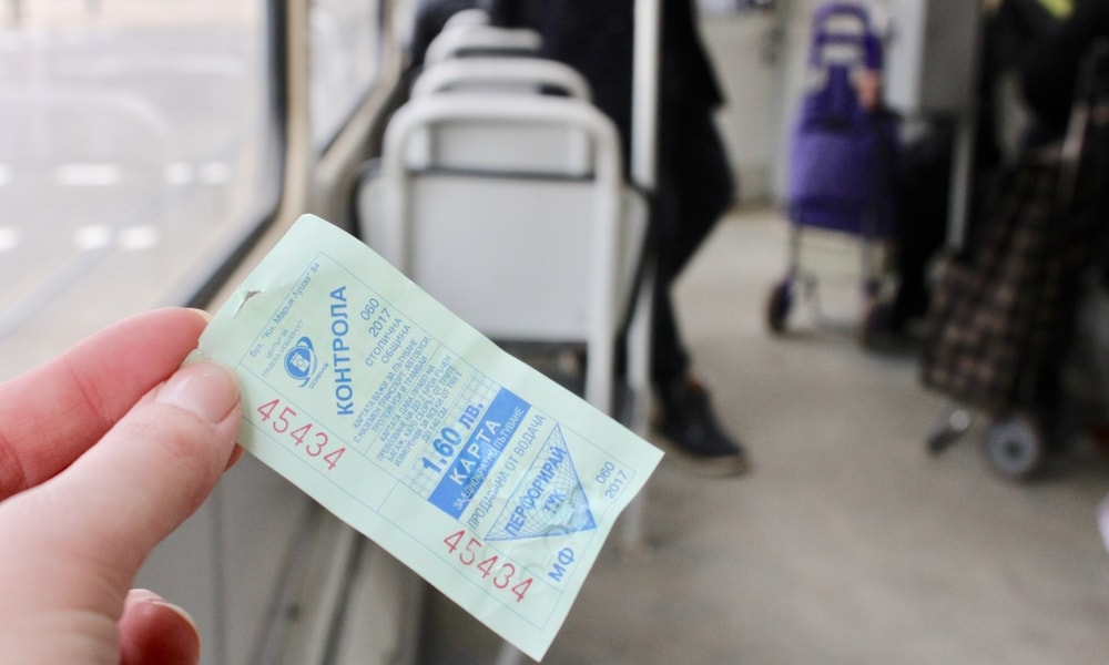Tram ticket in Sofia