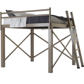 A light bronze king size Adult Loft Bed