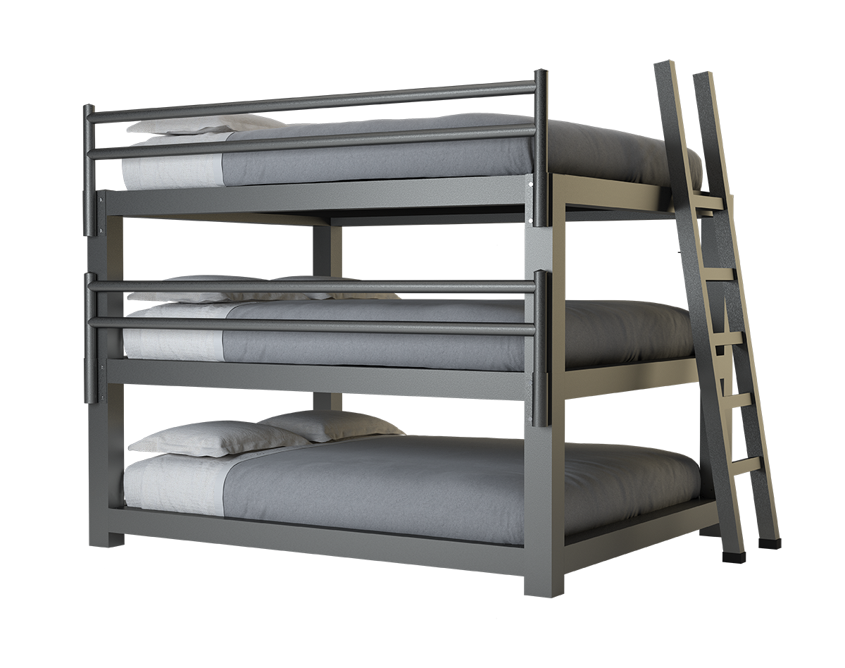Picture of: California King Triple Bunk Bed Adultbunkbeds Com