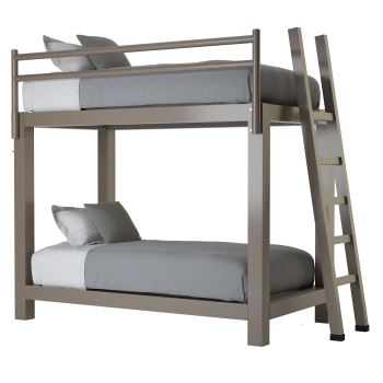A light bronze Twin Xl Over Twin XL Adult Bunk Bed