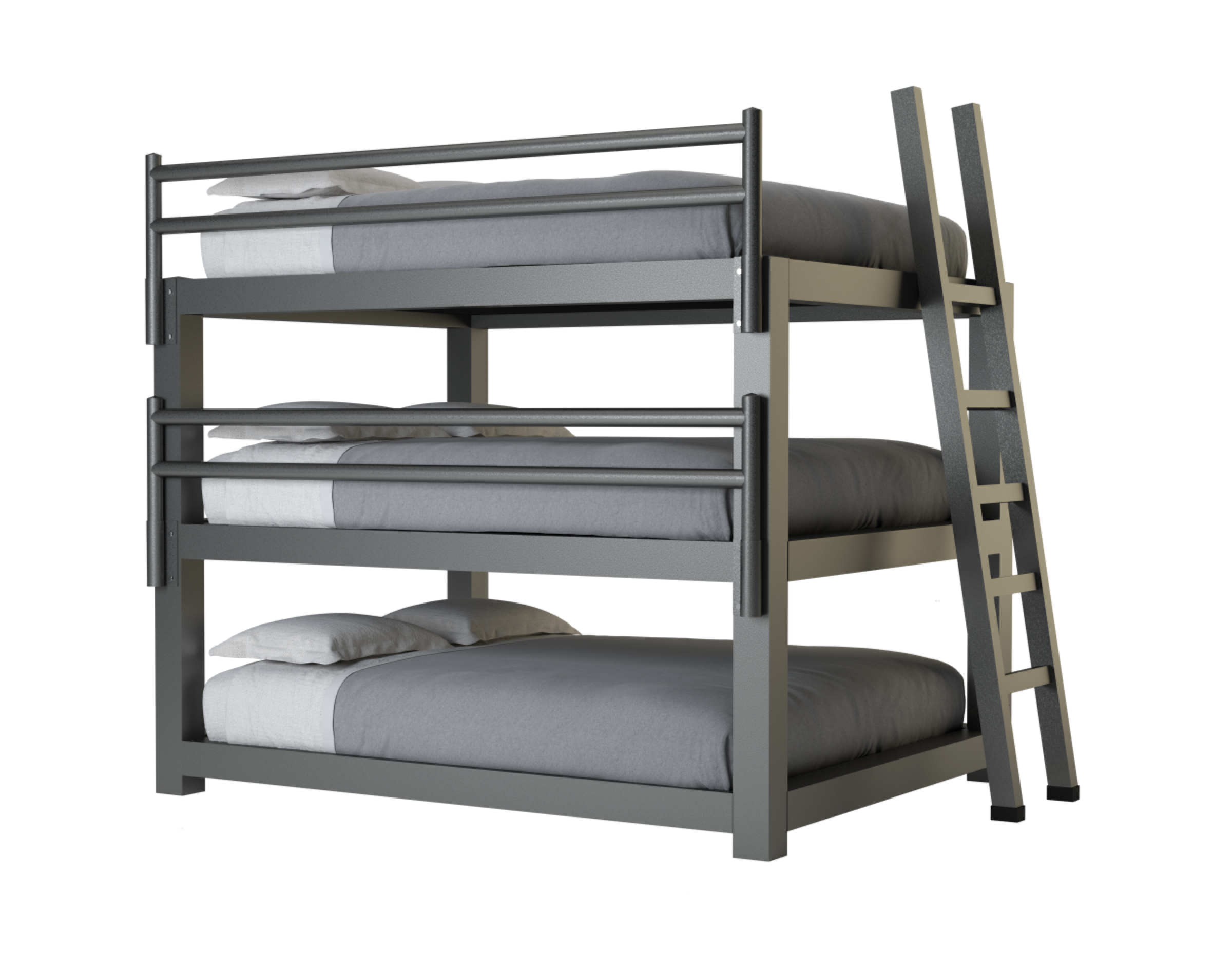 Picture of: Queen Triple Bunk Bed Adultbunkbeds Com