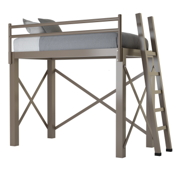 A light bronze twin size Adult Loft Bed