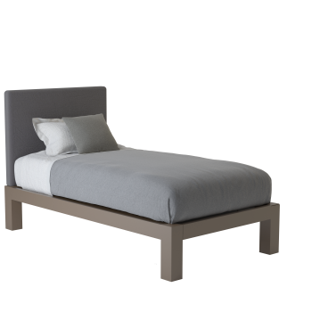 A light bronze twin size platform Standard Bed