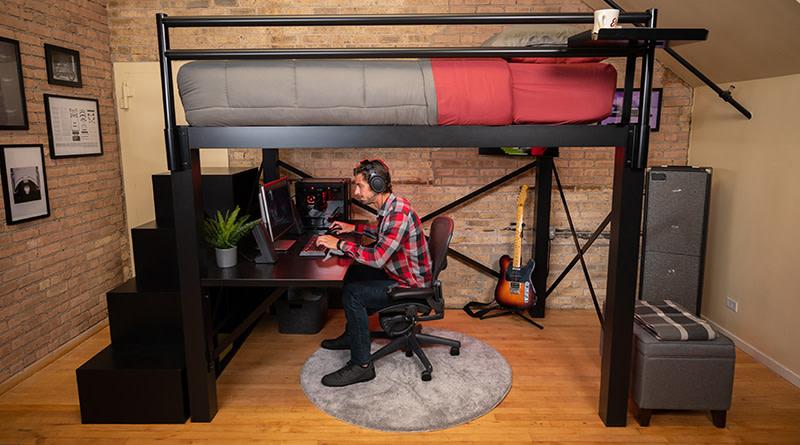 Loft Bunk Beds Bunkbeds Com, Loft Queen Size Bed Frame