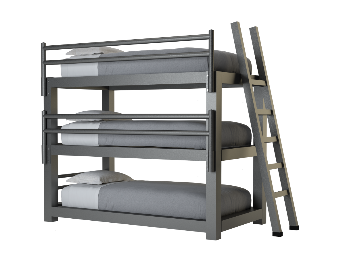 Picture of: Twin Triple Bunk Bed Adultbunkbeds Com