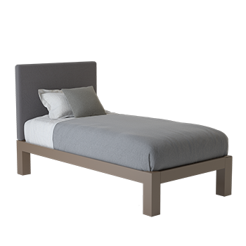 A light bronze Twin XL size platform Standard Bed