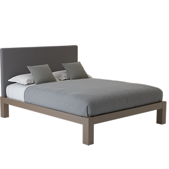 A light bronze California King size platform Standard Bed
