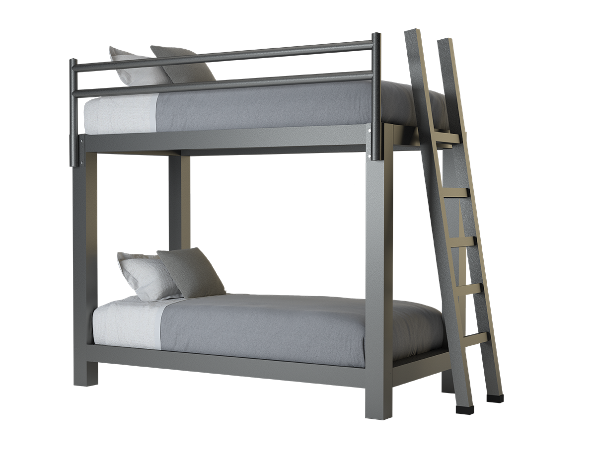 Picture of: Twin Xl Over Twin Xl Bunk Bed Adultbunkbeds Com