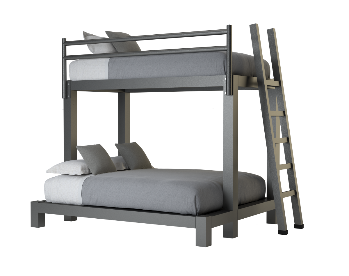Picture of: Twin Over Queen Bunk Bed Adultbunkbeds Com