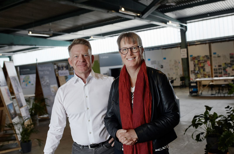 Peder Wahlgren, CEO GoCo Development AB and Anna Eckerstig, New Project Manager GoCo Development AB