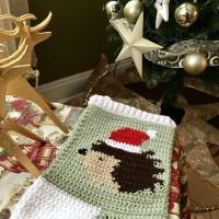 Hedgehog Christmas stocking