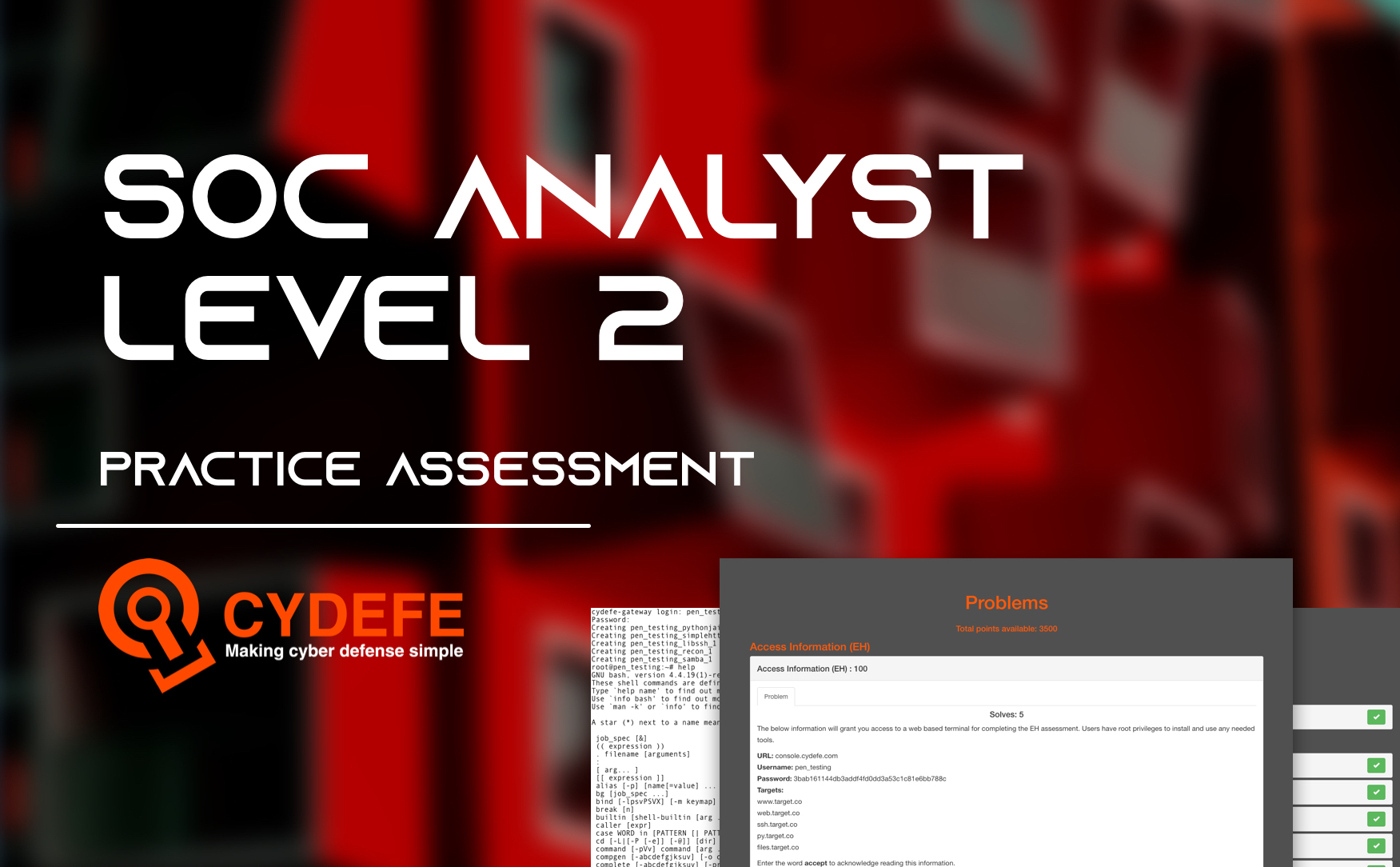 CyDefe Assessment