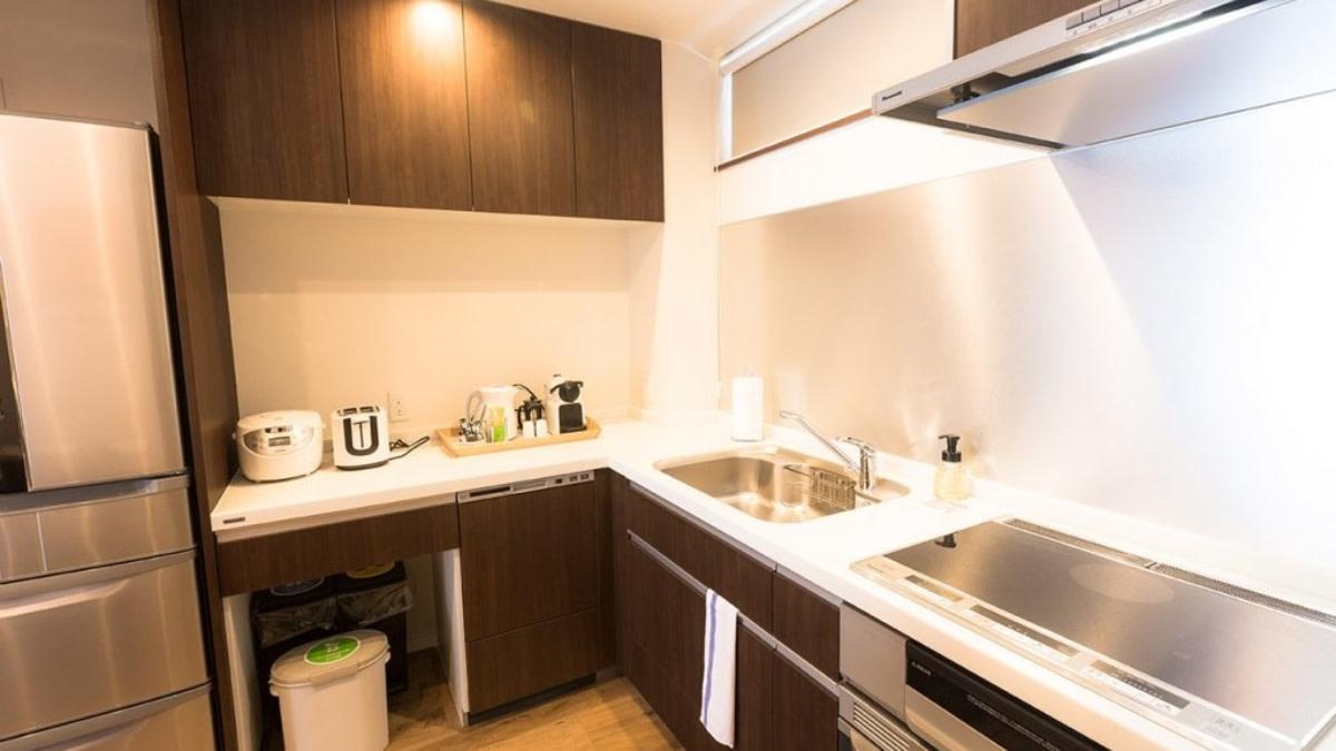 2bed kitchen2:スノードッグビレッジニセコ   Workations(ワーケーションズ)