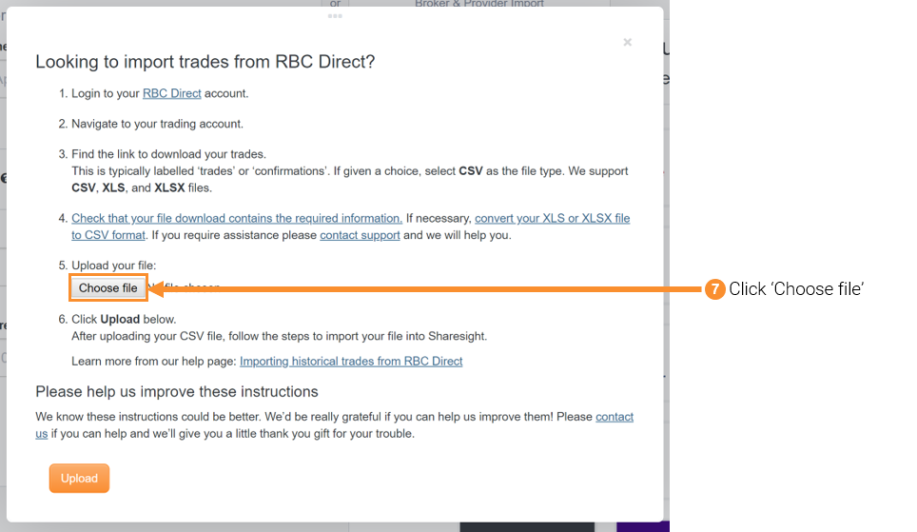 Importing historical trades from rbc direct sharesight new zealand 8 from the open file window find and select your rbc direct download file negle Choice Image