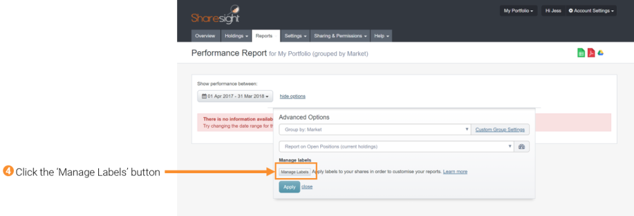 4 - manage labels performance report