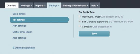 Capital Gains Tax Report | Sharesight Australia Help