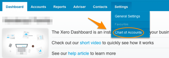 Xero Chart of Accounts