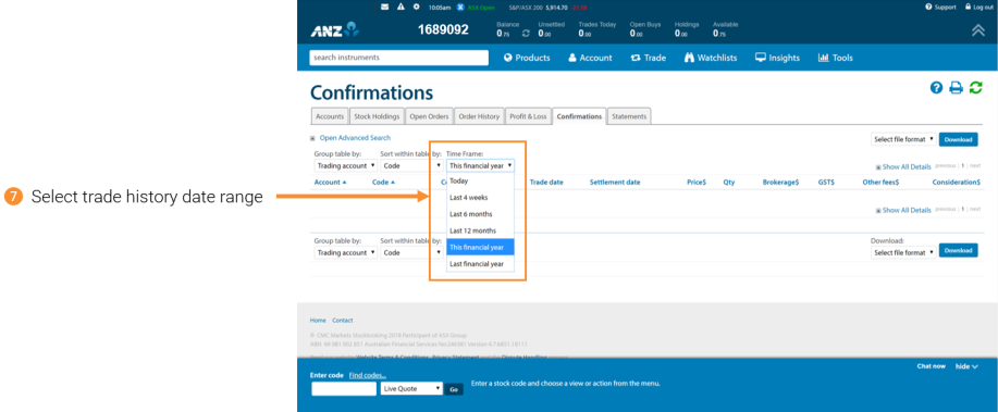 Import your historical trading data from ANZ Share Investing