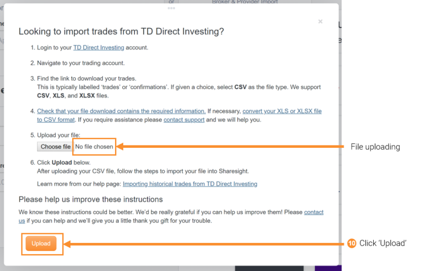 Importing historical trades from TD Direct Investing