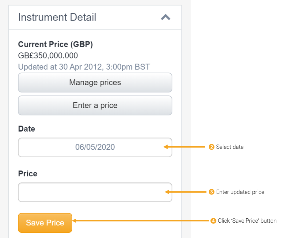 2 - updating custom investment price
