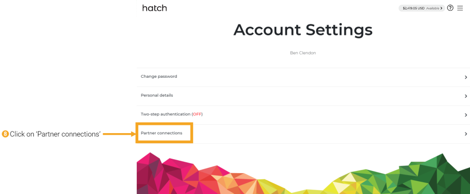 8 - connecting Hatch to Sharesight