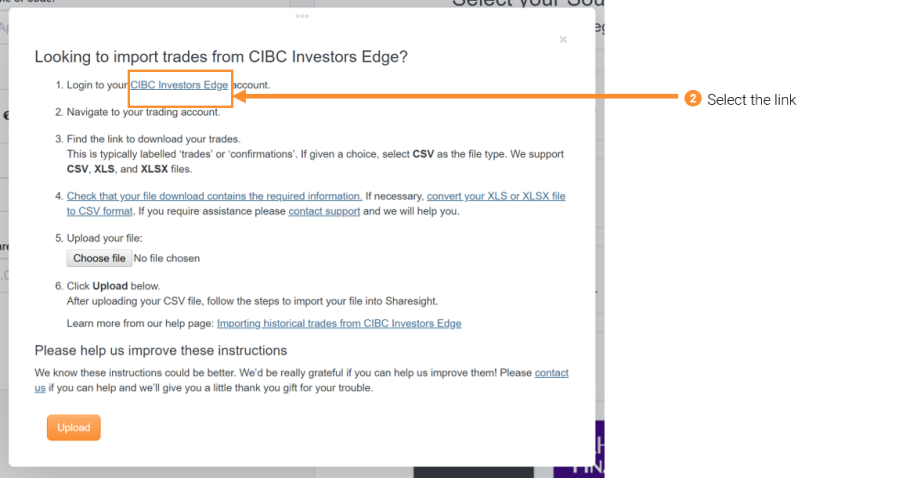 Importing historical trades from CIBC Investors Edge