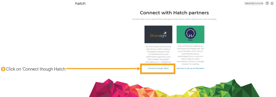 9 - connecting Hatch to Sharesight