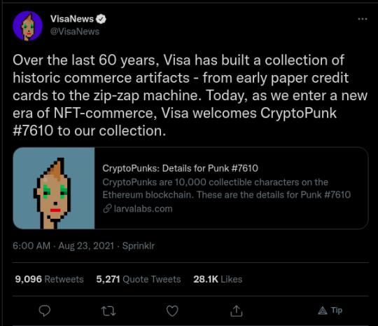 VisaNews tweet