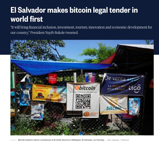 El Salvador news article