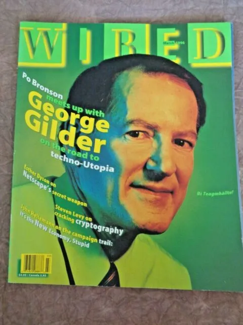 Gilder on the cover of Wired Magazine