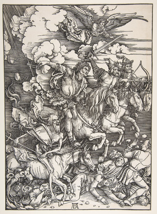 Print of The Four Horseman by Albrect Durer