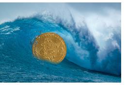 bitcoin in a wave