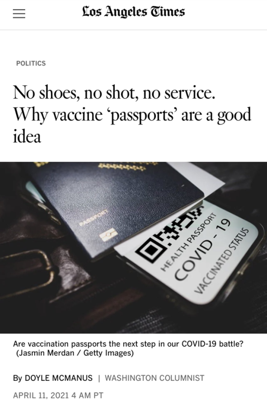 Covid-19 Health passport