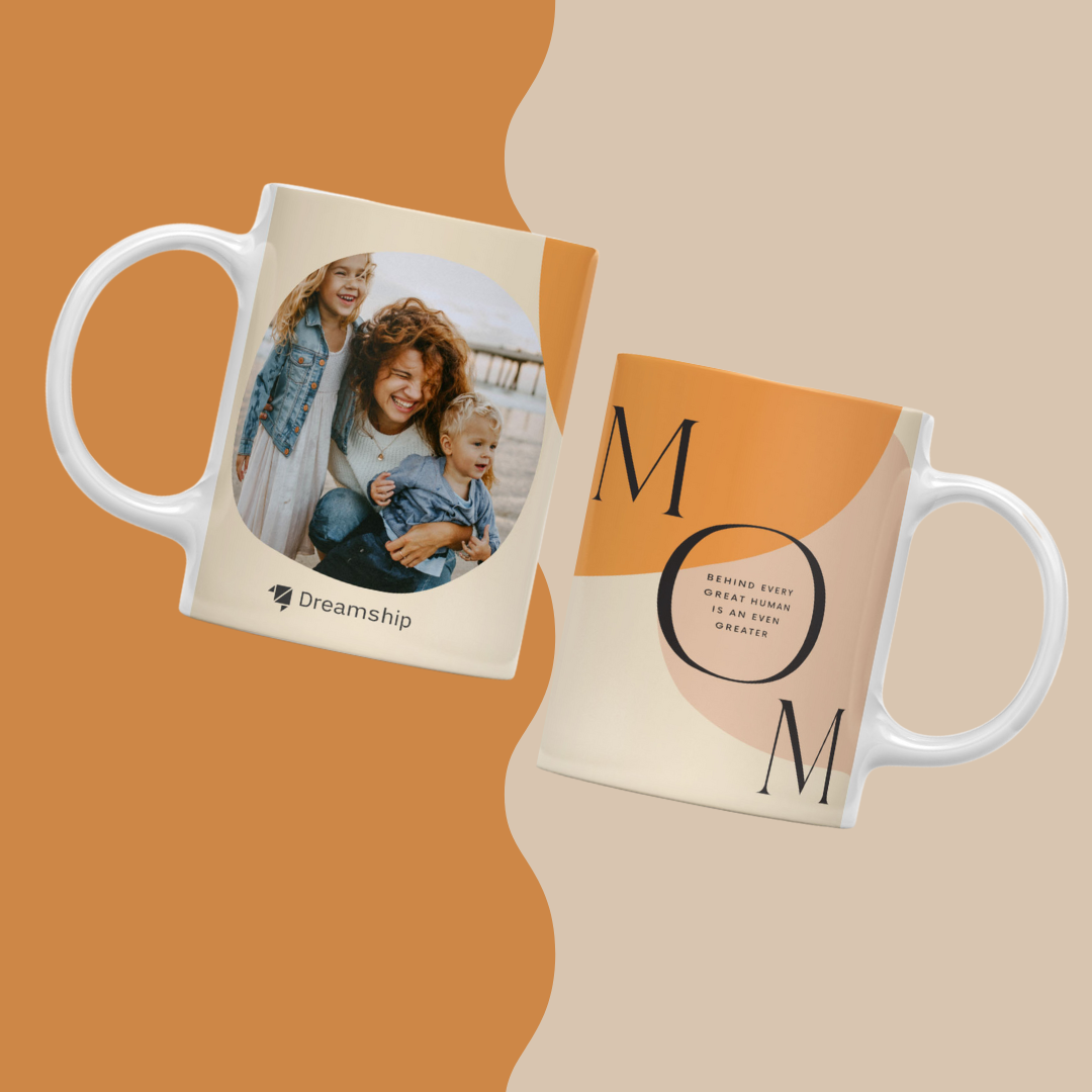 a pair of mugs with custom print design