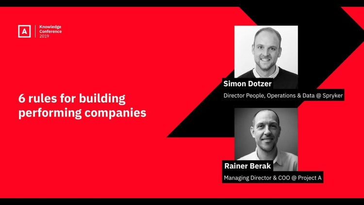 PAKCon 2019 – 6 Rules for Building Performing Companies Header Image