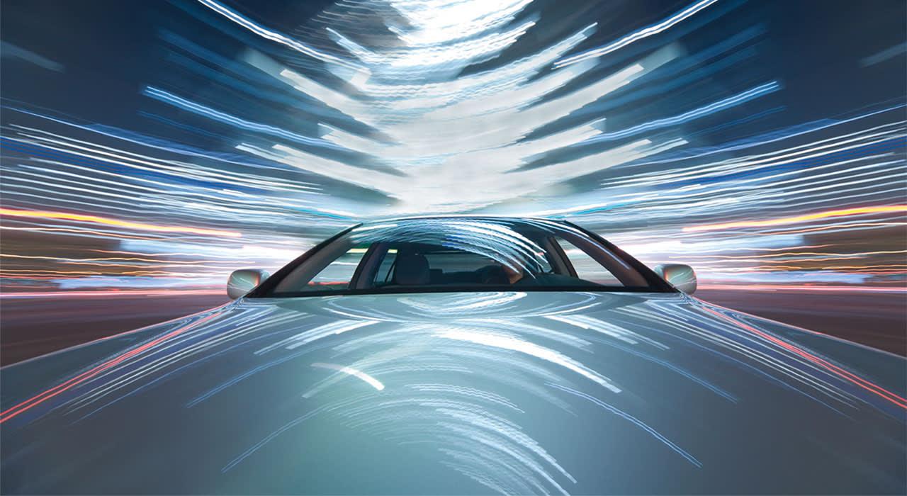 Auto-Lichtspuren