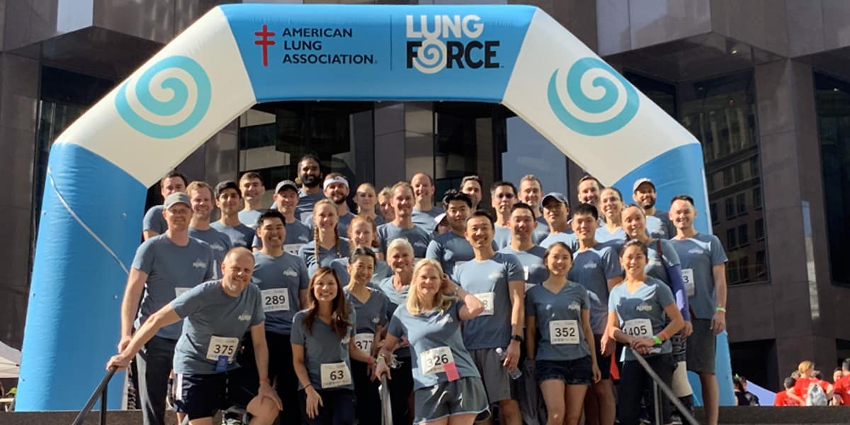 Team Auris participating in the American Lung Association's Fight for Air Climb event